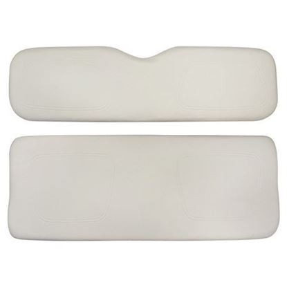 Picture of Cushion Set, White Vinyl, Universal Board, for Club Car DS 600 Series Rear Seats