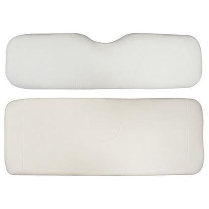 Picture of Cushion Set, White Vinyl, Universal Board, for Club Car Precedent 600 Series Rear Seats