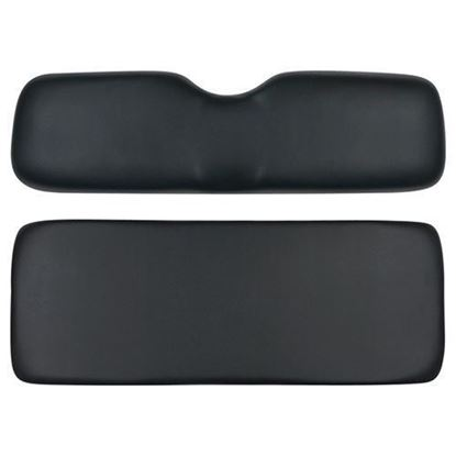 Picture of Cushion Set, Black Vinyl, Universal Board, 700 & 800 Series Rear Seats, No Welt Pattern