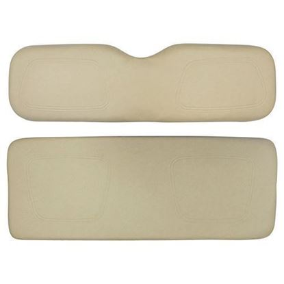 Picture of Cushion Set, Buff Vinyl, Universal Board, for Club Car DS 700 & 800 Series Rear Seats