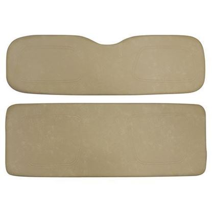 Picture of Cushion Set, Tan Vinyl, Universal Board, for Club Car DS 700 & 800 Series Rear Seats