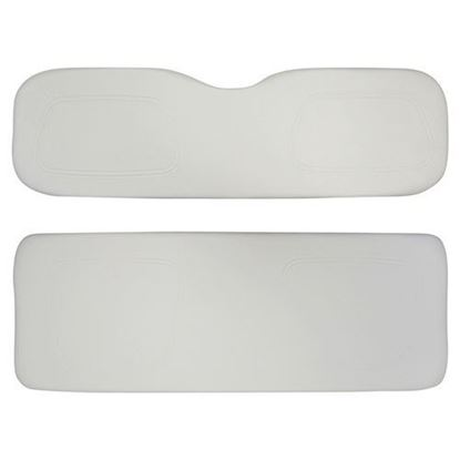 Picture of Cushion Set, White Vinyl, Universal Board, for Club Car DS 700 & 800 Series Rear Seats