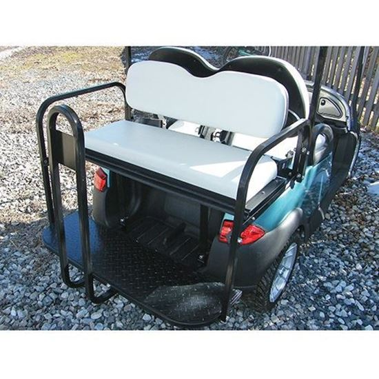 Picture of Rhino 700 Series Super Saver Club Car Precedent White Cushions Steel Rear Flip Seat Kit