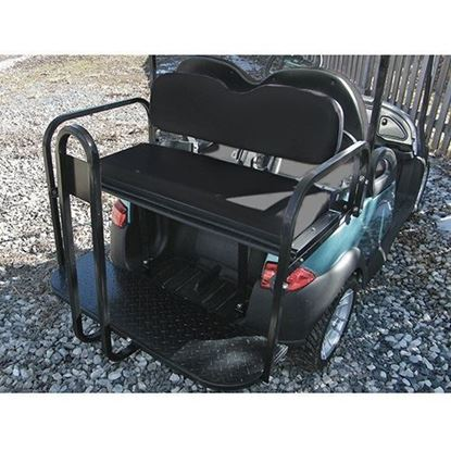 Picture of Rhino 700 Series Super Saver Club Car Precedent Black Cushions Steel Rear Flip Seat Kit