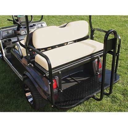 Picture of Rhino 700 Series Super Saver Club Car DS Buff Cushions Steel Rear Flip Seat Kit