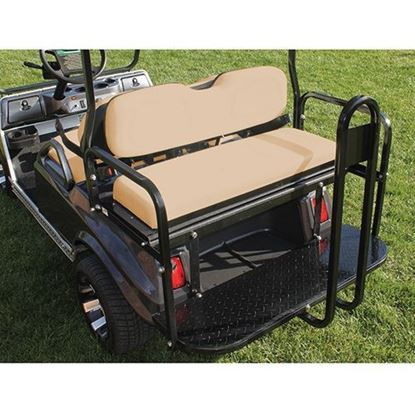 Picture of Rhino 700 Series Super Saver Club Car DS Tan Cushions Steel Rear Flip Seat Kit