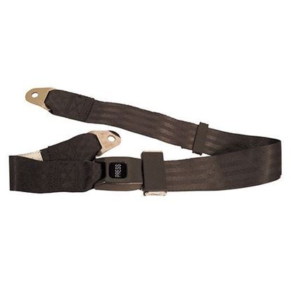 "Picture of Seat Belt, Black, Lap Belt, 60"" Fully Extended"