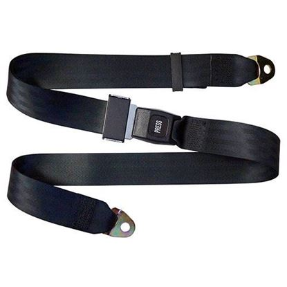 "Picture of Seat Belt, Black 72"" Fully Extended"
