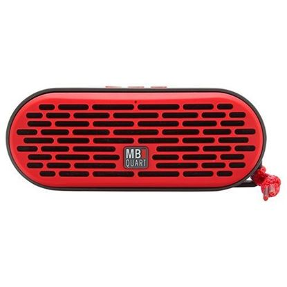 Picture of QUB Three Dual Driver Wireless Bluetooth Speaker, Red