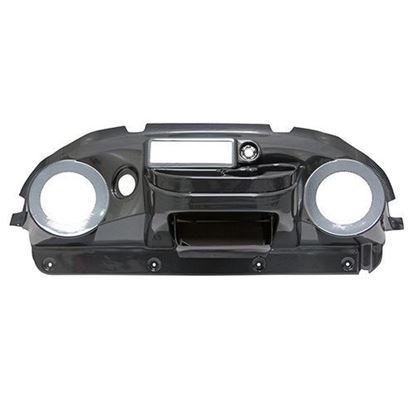 Picture of Carbon Fiber Deluxe Dash with Radio Cutout and Speaker Cutouts for Club Car Precedent 2004-2008.5