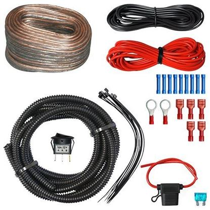 Picture of AMP Wiring Kit, AMP Package with LED Rocker Switch