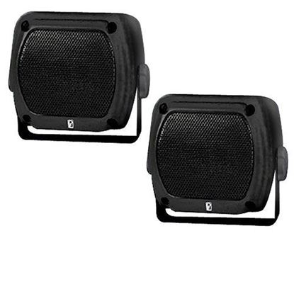 "Picture of 4"" x 4"" Box Poly-Planar 80 Watt (per pair) Waterproof Speakers Only- Set of 2"