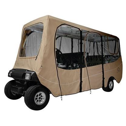"Picture of Enclosure, Deluxe 6 Passenger, Sand, Fits up to 124"" Top"