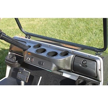 Picture of Carbon Fiber 4-Cup Holder Dash Fits Club Car DS