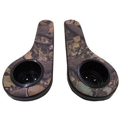 Picture of Seat Armrest Cushion Set with Cup Holders, Black/Camo