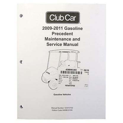 Picture of Maintenance & Service Manual, Club Car Precedent Gas 2009-2011