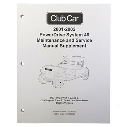 Picture of Maintenance & Service Supplement, Club Car PowerDrive 48V 2001-2002
