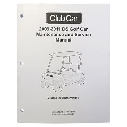 Picture of Maintenance & Service Manual, Club Car DS Gas & Electric 2009-2011