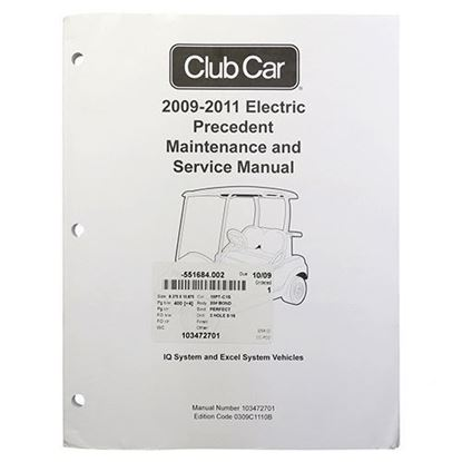 Picture of Maintenance & Service Manual, Club Car Precedent Electric 2009-2011