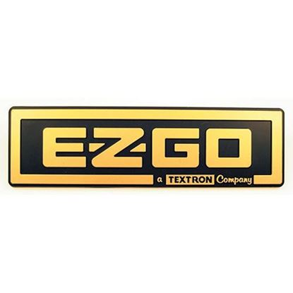 Picture of Name Plate Emblem, Black/Gold, E-Z-Go TXT 1996-2013, OEM 71037G02 or 71037G04