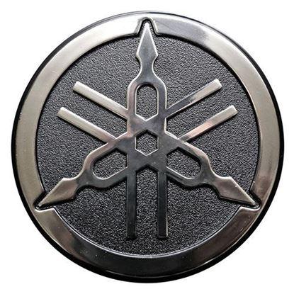 Picture of Name Plate Emblem, Yamaha G-Max G22, OEM JU0-F4161-00