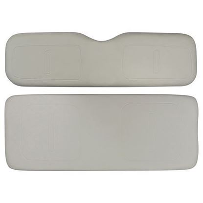 Picture of Cushion Set, Oyster Vinyl, Universal Board, for E-Z-Go TXT 600 Series Rear Seat Kits