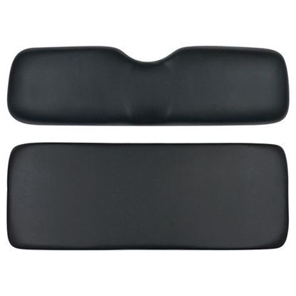 Picture of Cushion Set, Black Vinyl, Universal Board, 600 Series Rear Seats and SEAT-711 Flip Seat Kit for E-Z-Go TXT