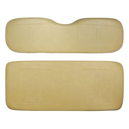 Picture of Cushion Set, Tan Vinyl, Universal Board, for E-Z-Go TXT 800 Series Rear Seat Kits