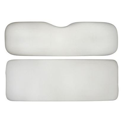 Picture of Cushion Set, White Vinyl, Universal Board, for E-Z-Go TXT 800 Series Rear Seat Kits