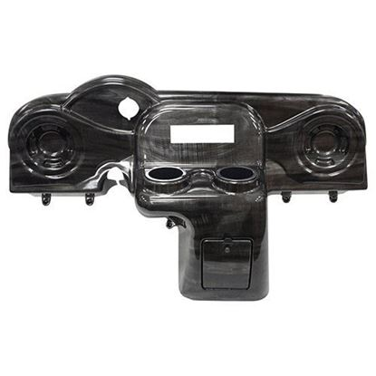 Picture of Grey Wood Deluxe Dash with Radio Cutout and Speaker Indentations for E-Z-Go RXV