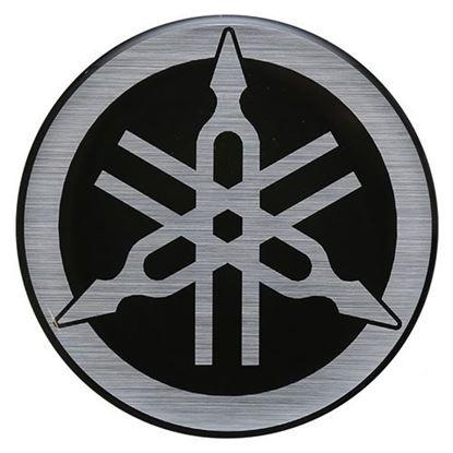 Picture of Emblem, Black/Silver, Yamaha Drive, OEM JW1-F4161-00