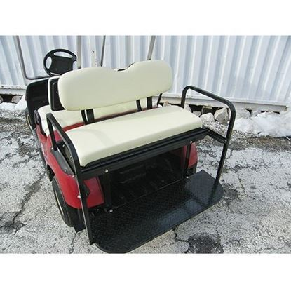 Picture of Rhino 700 Series Super Saver Yamaha G14/G16/G19/G22/GMAX Ivory Cushions Steel Rear Flip Seat Kit