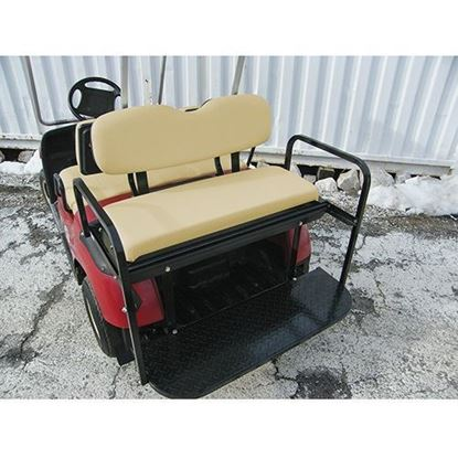 Picture of Rhino 700 Series Super Saver Yamaha G14/G16/G19/G22/GMAX Tan Cushions Steel Rear Flip Seat Kit