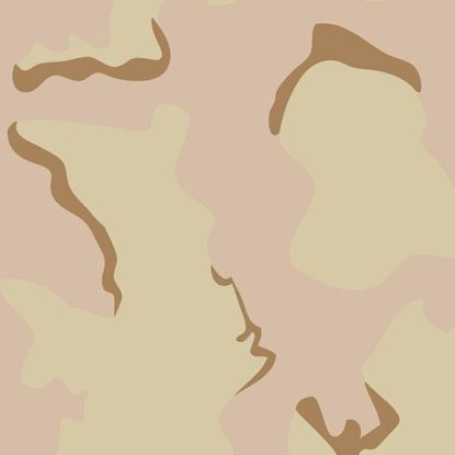 Picture of Golf Car Body Wrap Camouflage Decal Kit - US Army Desert