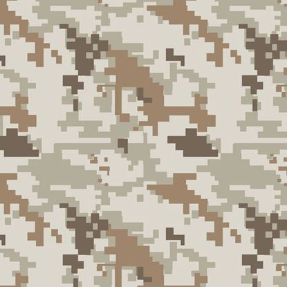 Picture of Golf Car Body Wrap Camouflage Decal Kit - US Army Digital Desert