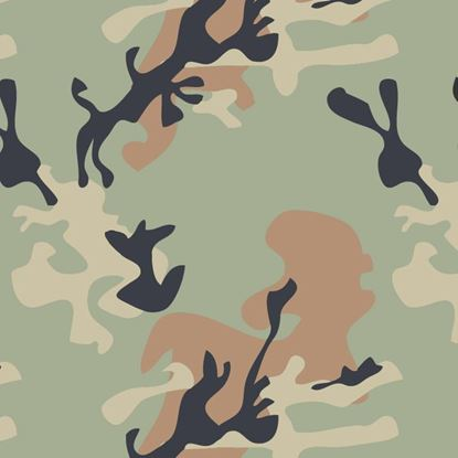 Picture of Golf Car Body Wrap Camouflage Decal Kit - US Army Green