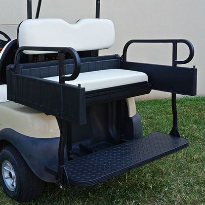 Picture of Seat Kit, Cargo Box, Rear Flip, Aluminum, White Cushions, Rhino 900 Series fits Club Car Precedent