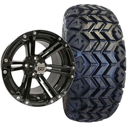 Picture of Lifted, Set of (4) Tire & Wheel Combo: Rhox RXAT DOT 23x10-14 and Rhox 14x7 RX351 Gloss Black Wheel