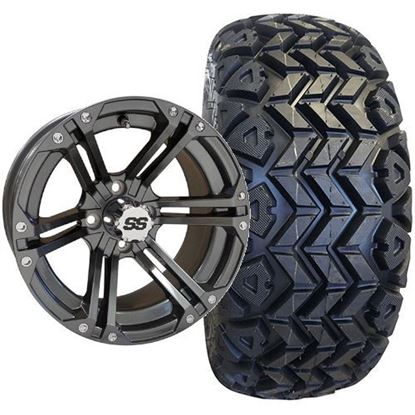 Picture of Lifted, Set of (4) Tire & Wheel Combo: Rhox RXAT DOT 23x10-14 and Rhox 14x7 RX355 Gun Metal Gray Wheel