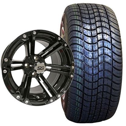 Picture of Non-Lifted, Set of (4) Tire & Wheel Combo: Rhox RXLP DOT 225/30-14 and Rhox 14x7 RX351 Gloss Black Wheel