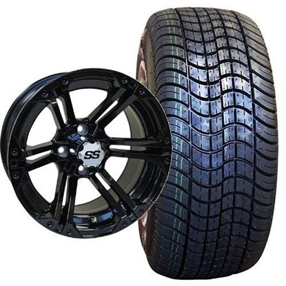 Picture of Non-Lifted, Set of (4) Tire & Wheel Combo: Rhox RXLP DOT 225/30-14 and Rhox 14x7 RX354 Gloss Black Wheel