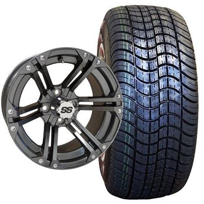 Picture of Non-Lifted, Set of (4) Tire & Wheel Combo: Rhox RXLP DOT 225/30-14 and Rhox 14x7 RX355 Gun Metal Gray Wheel