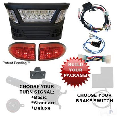 Picture of Club Car Precedent Gas 2004-Present LED Light Bar Kits with Multi-Color LED - Choose Your Street Legal Kit