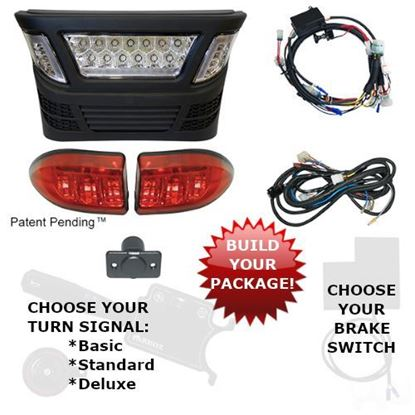 Picture of Club Car Precedent Electric 2008.5-Newer LED Light Bar Kits with Multi-Color LED - Choose Your Street Legal Kit
