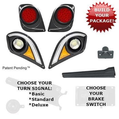 Picture of Yamaha Drive2 LED Light Kit with Multi-Color LED Running Lights - Choose Your Street Legal Kit