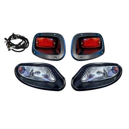 Picture of E-Z-Go TXT 2014-Up Halogen Factory-Style Light Kit with Plug & Play Harness