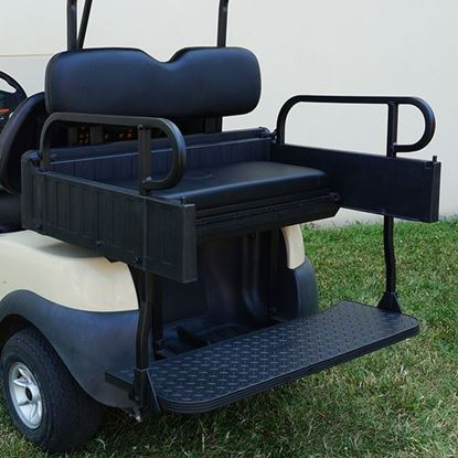 Picture of Seat Kit, Cargo Box, Rear Flip, Aluminum, Black Cushions, Rhino 900 Series fits Club Car Precedent
