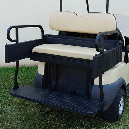 Picture of Seat Kit, Cargo Box, Rear Flip, Aluminum, Beige Cushions, Rhino 900 Series fits Club Car Precedent