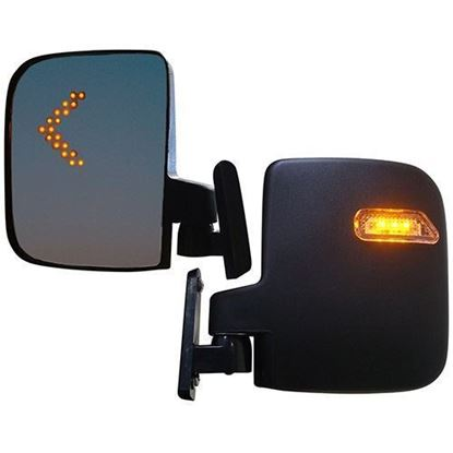 Picture of Mirror, Deluxe LED Side, Set of 2, Running/Turn Signal Lights, works for 12V-48V, 3 Wire
