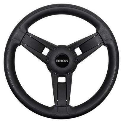 Picture of Giazza Steering Wheel, Black, Choose Club Car Model